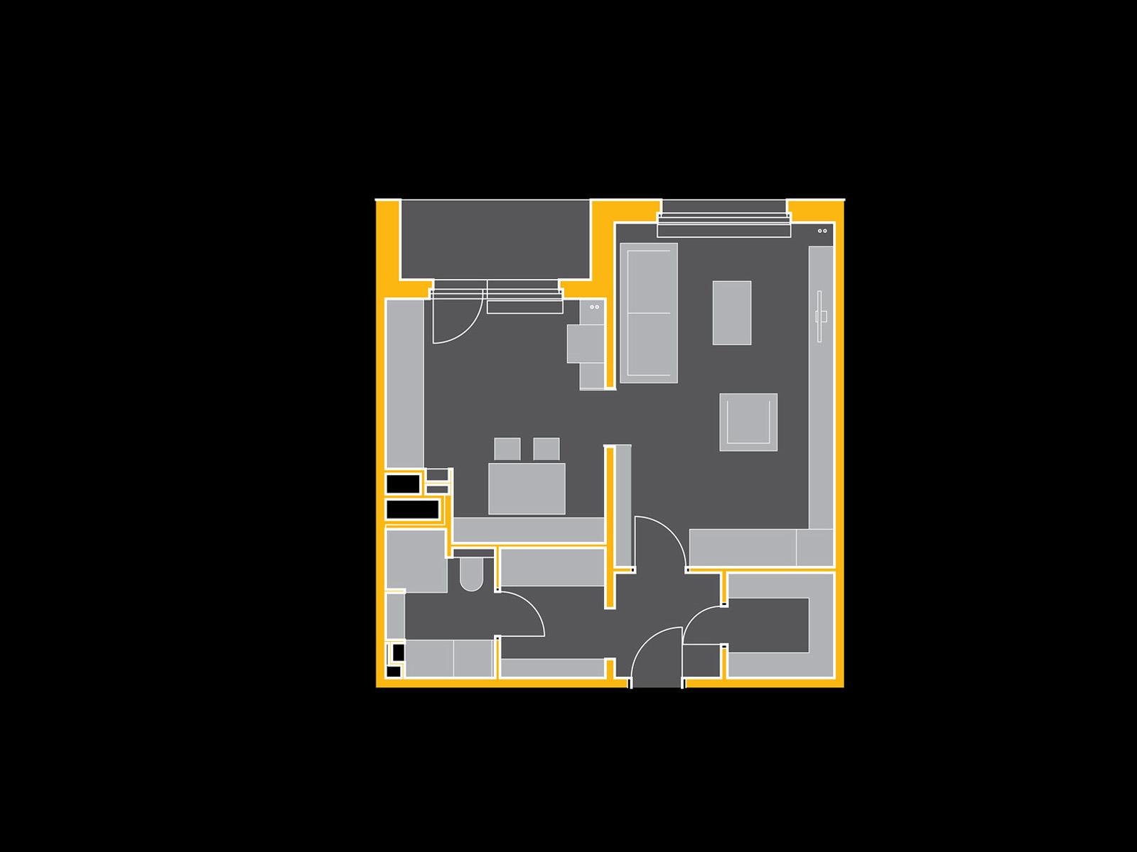 rekonstrukce panelového bytu pana J.   Brno   15