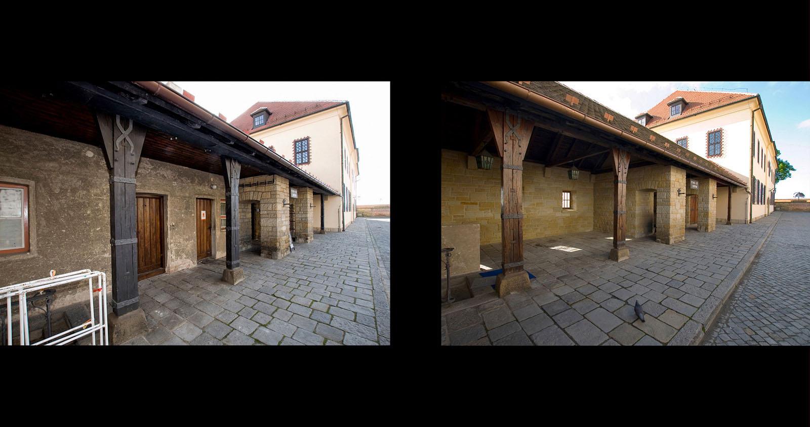 rekonstrukce hradu Špilberk | Brno | 10 | před realizací - po realizaci