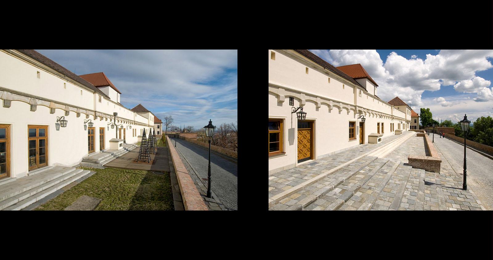 rekonstrukce hradu Špilberk | Brno | 12 | před realizací - po realizaci
